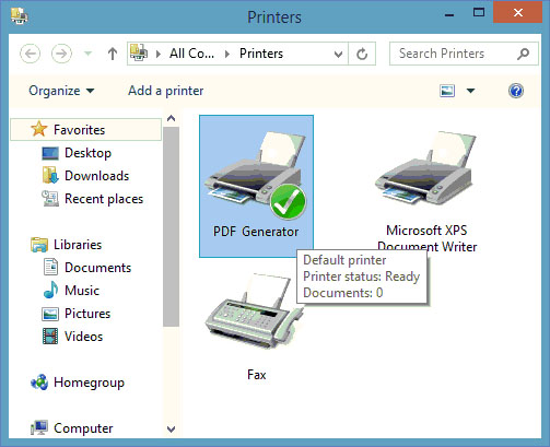 PDF Generator for Windows 8